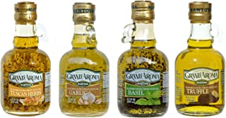Mantova Flavored Extra Virgin Olive Oil Variety Pack: Tuscan Herbs, Truffle, Garlic, Basil Authentic Italian EVOO, 8.5-Oun...