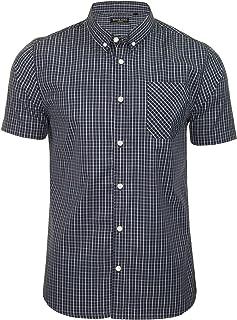 BRAVE SOUL 'Berlioz' Mens Short Sleeved Check Shirt