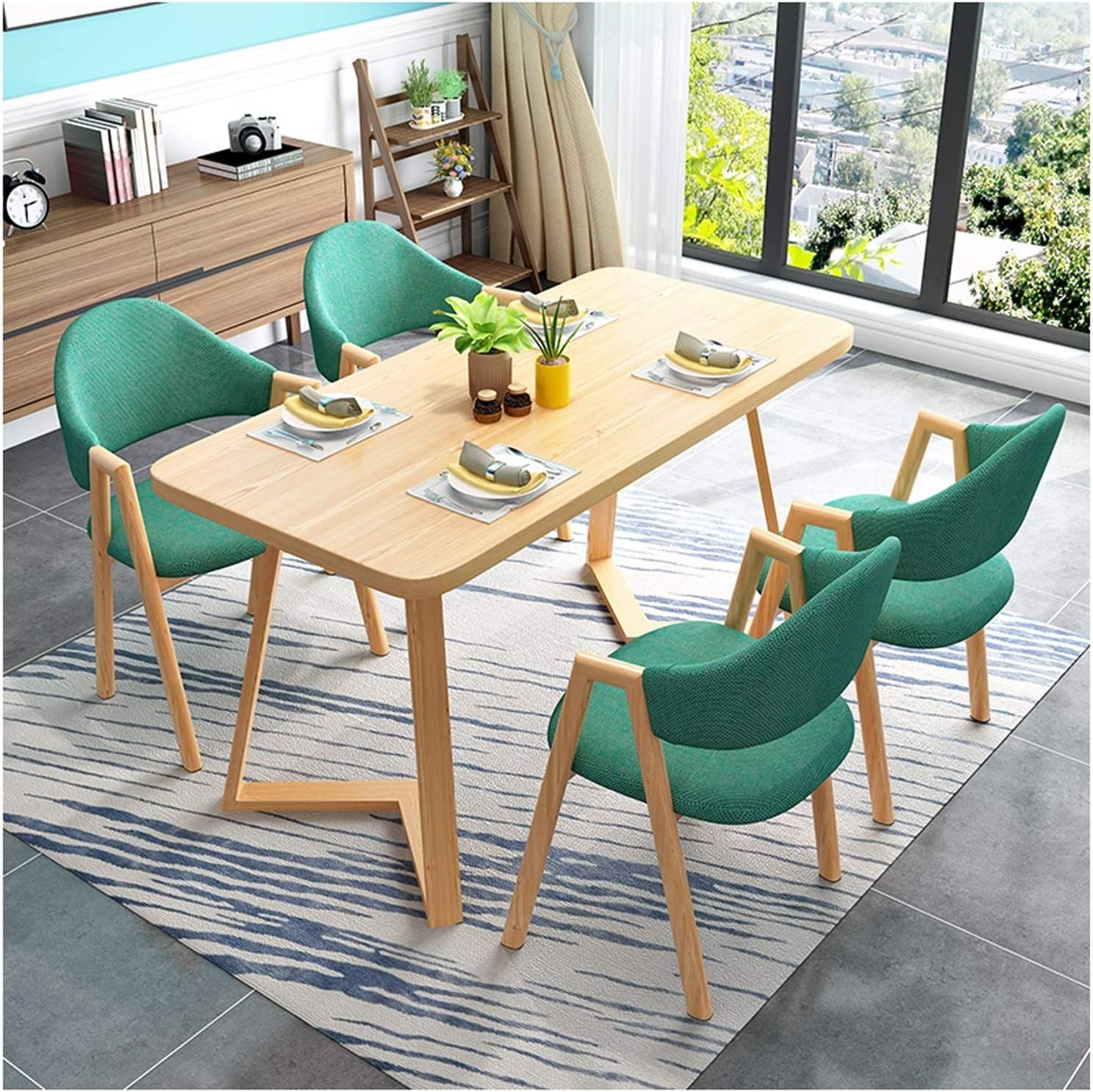 BDBT Modern Denver Mall Living Room Table and Simple Round Chair Set L Denver Mall