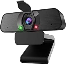 2K HD Webcam,JYH Webcam with Microphone,Computer Camera with Cover Plug and Play USB Web Cam for Zoom Skype Facetime Teams...