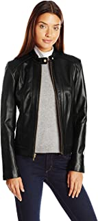 Women's Racer Jacket with Quilted Panels