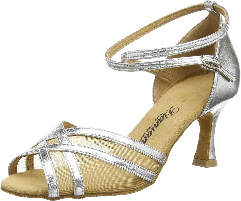Diamant Women's Damen Latein Tanzschuhe 035-087-013 Ballroom Dance shoes Silver Size