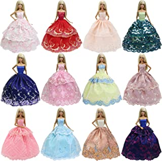 K.T. Fancy 6 PCS Handmade Fashion Party Dresses Clothes | for 11.5 Inch Girl Doll Kid Xmas Brithday Gift