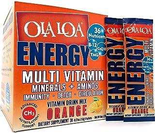 Ola Loa Energy Orange Multi Vitamin Drink Mix - Amino Energy Powder, Gluten Free, Detox, Dairy Free, Caffeine Free - Drink...