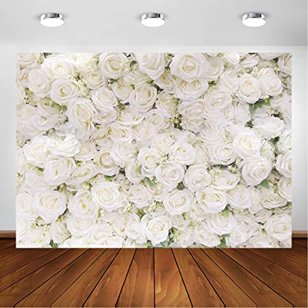 Pink and Grey 8x10 FT Photo Backdrops,Vintage Floral Anemones Fragrance Soft Toned Botanical Beauty Art Background for Baby Shower Birthday Wedding Bridal Shower Party Decoration Photo Studio