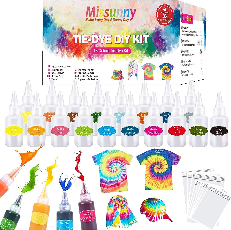 DIY Tie Dye Kit 18 Colors One Step Set Max 90% OFF Craft Max 51% OFF Ki for Art