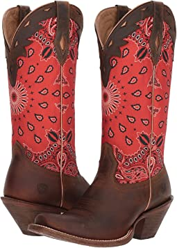Cattle Creek Brown/Red Paisley Print