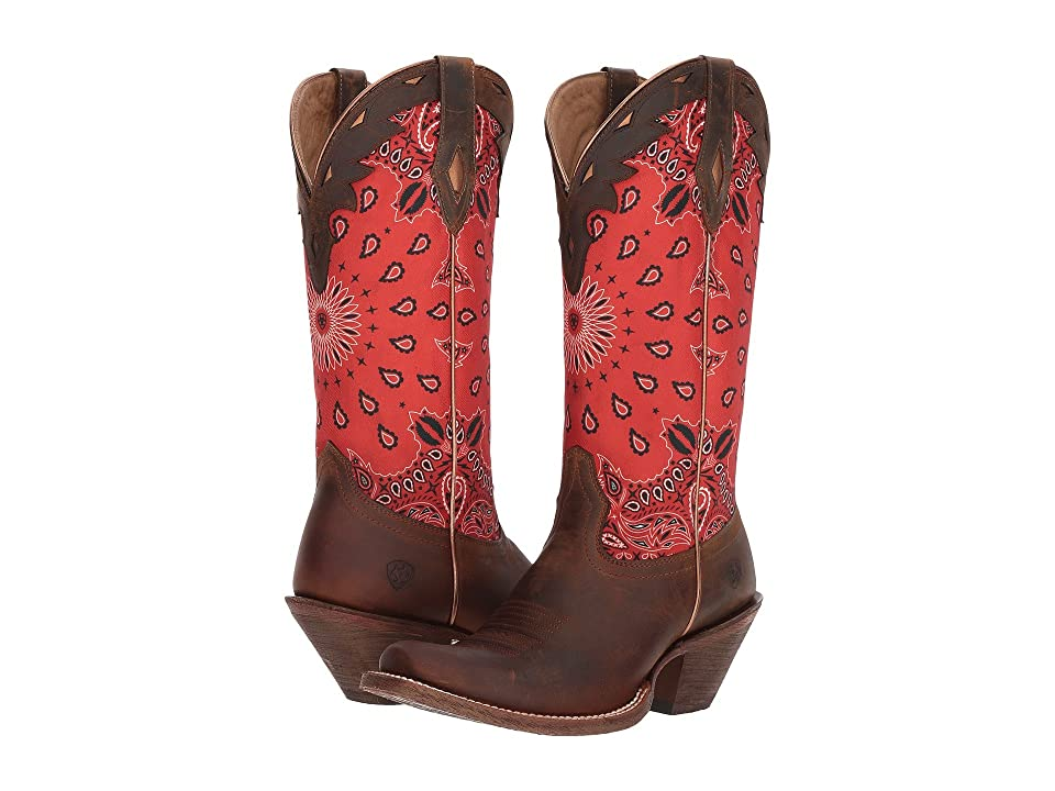 Ariat Circuit Cheyenne (Cattle Creek Brown/Red Paisley Print) Cowboy Boots