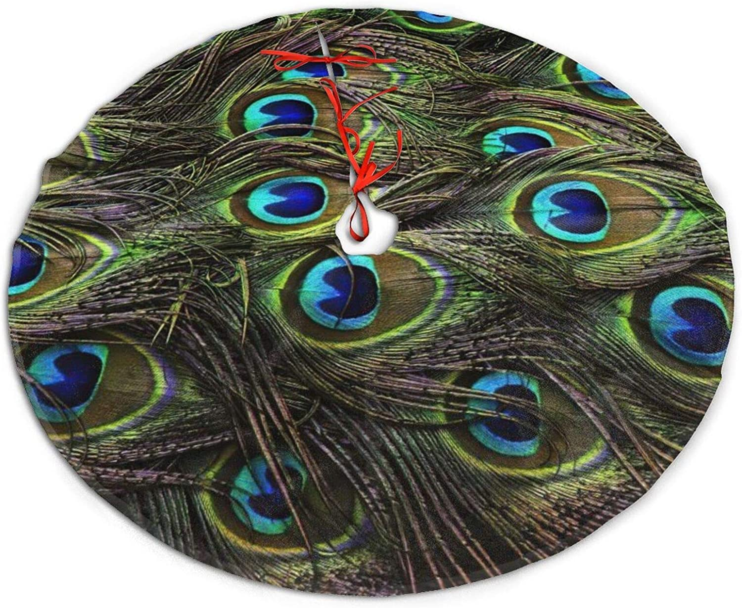 CORPDA Peacock Feather Animal Skin El Paso Mall Christmas Traditional Tree Sk Direct stock discount
