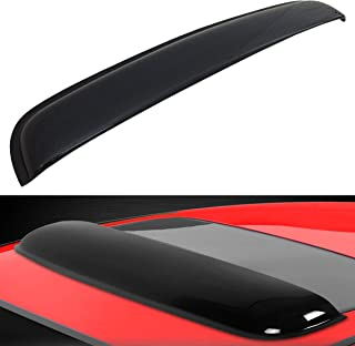 Mega Racer 35 in / 880 mm JDM Style Sun/Moon Roof Sunroof Moonroof Shade Guard Dark Smoke Tint Rain Vent Wind Deflector Auto Visor