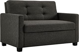 Signature Sleep Devon Sleeper Sofa with Memory Foam Mattress, Gray, Twin