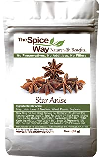 The Spice Way Star Anise - whole | 3 oz | great for baking and tea