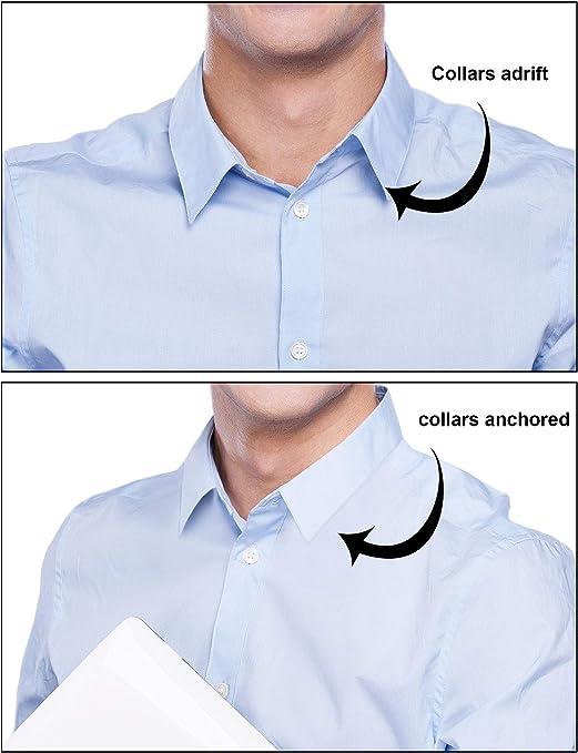 600 Piezas de Ballenas de Cuello de Camisa de Plástico para Camisas de Hombres, 6 Tamaños Mixtos (Transparente)