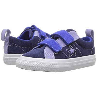 Converse Kids One Star 2V Ox (Infant/Toddler) (Eclipse/Twilight Pulse/Hyper Royal) Boys Shoes