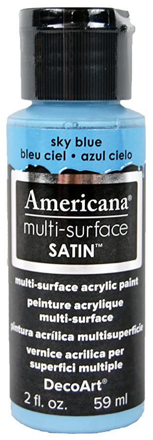 DecoArt Americana Multi-Surface Satin Acrylic Paint, 2-Ounce, Sky Blue (DA522-30)