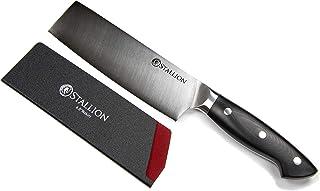 Stallion Couteau professionnel Couteau Nakiri 16,5 cm - lame en acier allemand 1.4116 et manche en G10 GFK