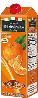 Mongibello 100% Fresh Squeezed Italian Mandarin Juice 32 Fl Oz (3 Pack)