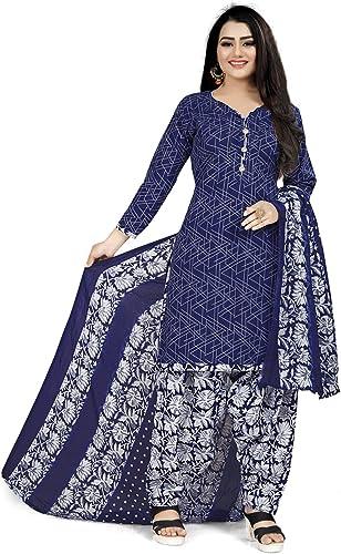 RajnandiniWomen s Cotton Salwar Suit Material JOPLPDP1058 Blue Free Size