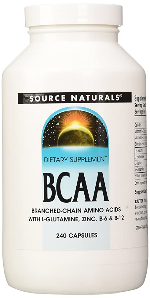 Source Naturals BCAA Branched-Chain Amino Acids, Provides Supports The Body's Muscular Systems, 240 Capsules