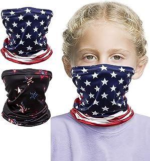 Kids Face Mask, Bandana Face Mask, Kids Neck Gaiter (2 Pack)