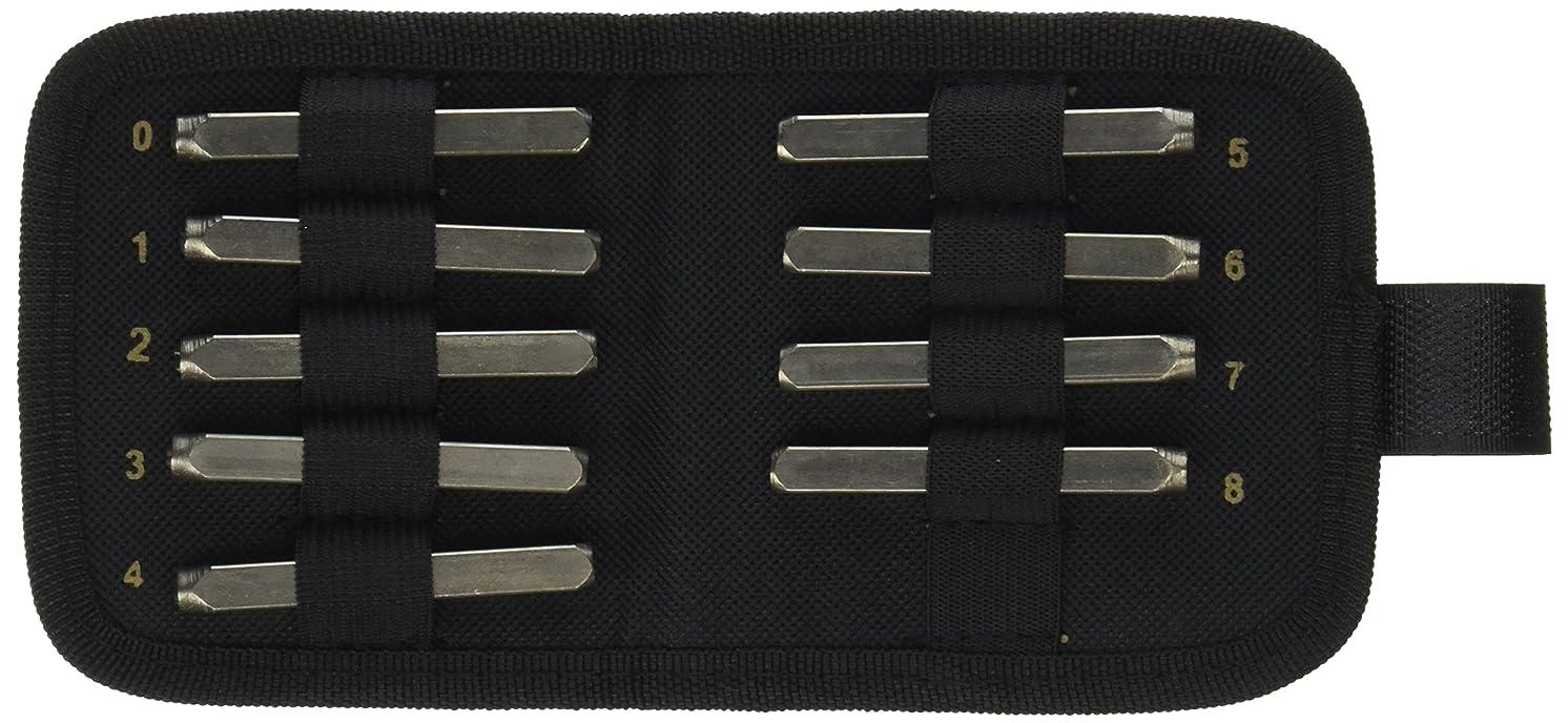 Vintaj Number Punch Set W/Case 9/Pkg-3mm (1/8