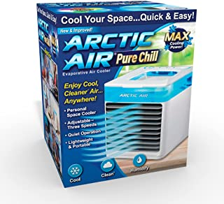 Ontel Arctic Air Pure Chill Evaporative Ultra Portable Personal Air Cooler with 4-Speed Air Vent