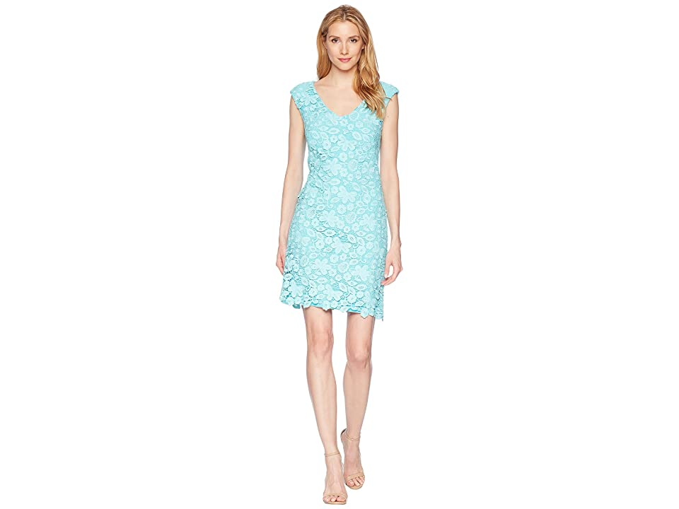 LAUREN Ralph Lauren Heiress Floral Montie Dress (Skylight) Women