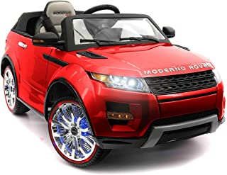 Moderno Kids 2019 Rover Sports Kids Car 12V Powered Battery for Kids Ride On Car w/ Remote, LED Lights, Leather Seat