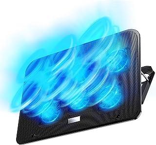【2021年最新の 6つ冷却ファン 5段階調整 強冷 超静音】ノートパソコン 冷却パッド 冷却台 ノートPCクーラー クール 超静音 USBポート2口 USB接続 風量調節可 高度調節可 7-17インチ ノートpc/iPad/Macbook/M...