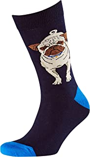 Men's Pug Jacquard Crew Socks