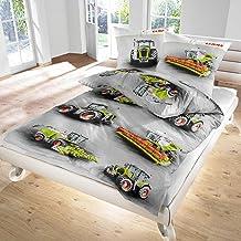 Moissonneuse-batteuse et draps de lit Claas Landmaschinen 100% coton Castor fine pour bébé et tout-petit Taille 135x200 cm...