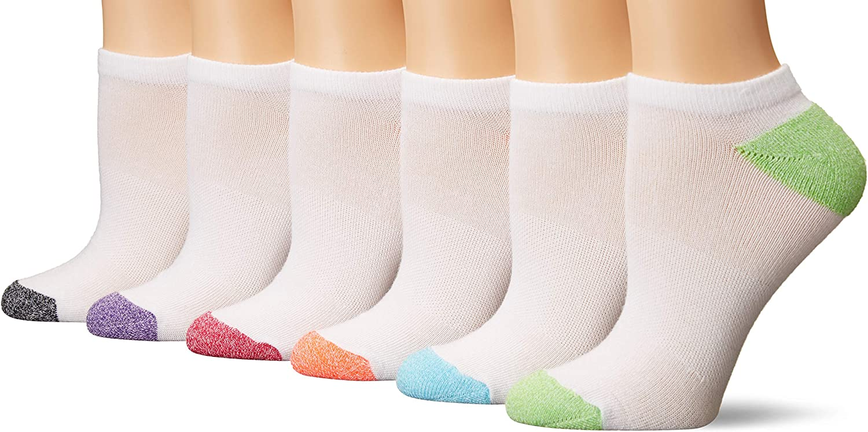 Hanes 6 pairs Cushion No Show Socks