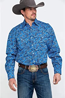 Men's Floral Paisley Print Long Sleeve Western Shirt - 11-001-0425-0502