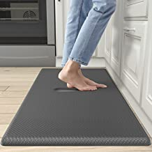 DEXI Anti Fatigue Mat Kitchen Floor Mat, Standing Mat Kitchen Rug, Thick Foam Cushioned Comfort Mat for Office Stand Up De...