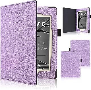 ACdream Nook GlowLight Plus 6inch Case, Folio Premium PU Leather Cover Case for Barnes & Noble Nook GlowLight Plus 2015 Release (can not fit Nook Glowlight 3), Glitter Purple