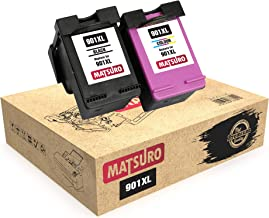 Matsuro Original | Compatible Remanufactured Cartuchos de Tinta Reemplazo para HP 901XL 901 (1 Set)