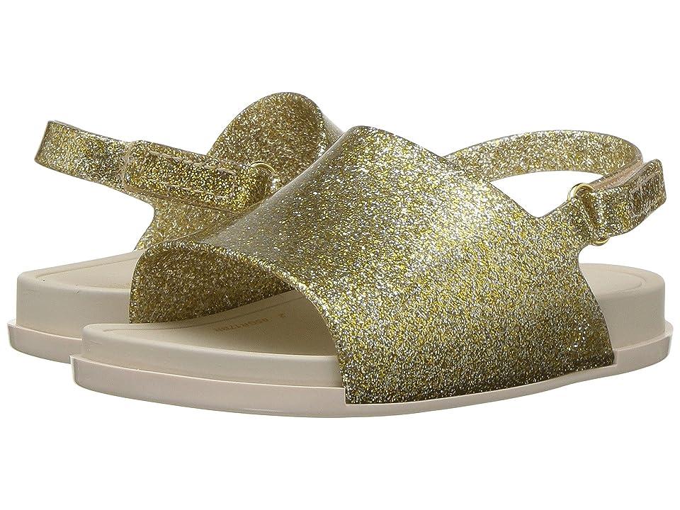 Mini Melissa Mini Beach Slide Sandal (Toddler/Little Kid) (Gold Glitz) Girls Shoes