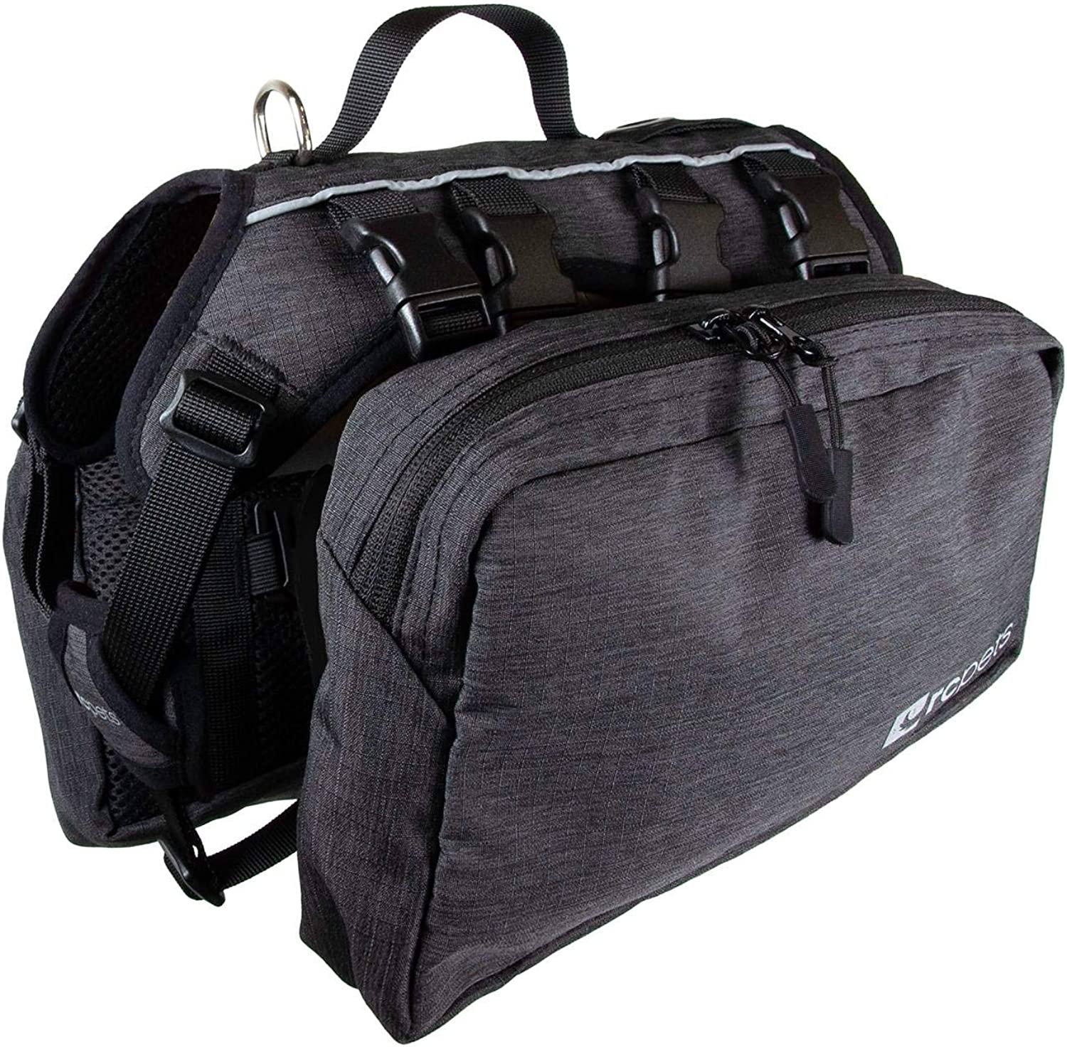 RC Pet Products Quest Day Pack, Dog Backpack, Large, Heather Black