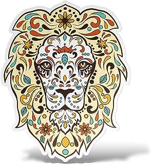 erreinge Aufkleber Löwe Aufkleber PVC Form Für Abziehbild Tapete Auto Moto Helm Camper Laptop   10 cm