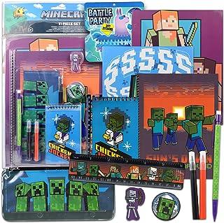 پوشه ها ، نوت بوک ها ، و برچسب های Minecraft برای کودکان و نوجوانان دختر پسر (Minecraft)
