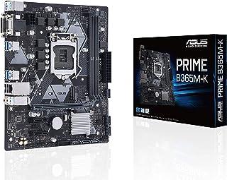 ASUS Prime B365M-K - Placa Base mATX Intel de 8a y 9a Gen. LGA1151 con iluminación LED, DDR4 2666 MHz, Soporte M.2, DVI/D-Sub y SATA 6 Gbps