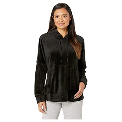 Donna Karan Hooded Top (Black) Women