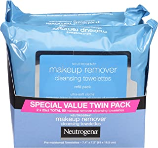 Neutrogena Makeup Remover Cleansing Towelettes, Daily Cleansing Face Wipes to Remove..
