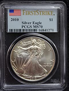 2010 America Silver Eagle First Strike $1 MS70 - The Perfect Coin - PCGS
