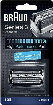 Braun Pièce De Rechange 32S Argentée Pour Rasoir - Compatible avec les rasoirs Series 3