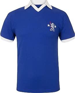 Chelsea FC Official Soccer Gift Mens 1972 1976 Retro Home Kit Shirt