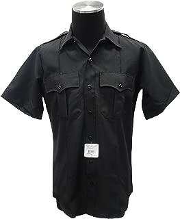 Flying Cross 87R7810Z Men's Uniform Short Sleeve Visa® System 3TM Shirt, Black
