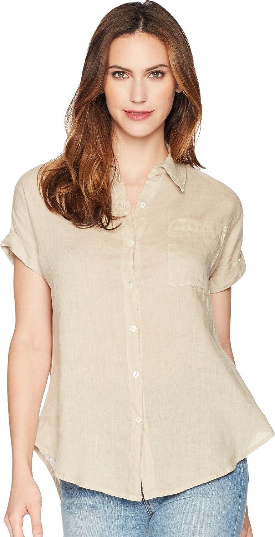 Allen Allen Womens Short Sleeve Camp Shirt