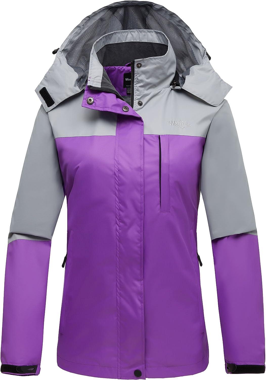 Wantdo Women's Hooded Sportswear Front Zip Outdoor Windproof Shell Jacket
