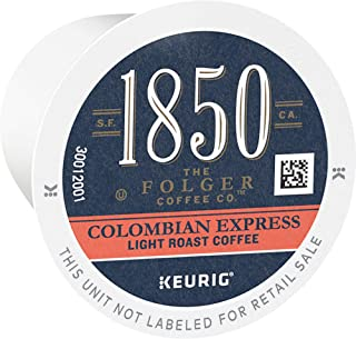 1850 Colombian Express, Light Roast, Single Origin Coffee, K Cup Pods for Keurig Brewers, 3.70 Oz, 60Count